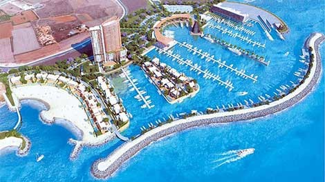 "Residential twin towers at the ""Sawiris"" Ayia Napa Marina"